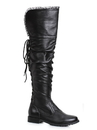 Ellie Shoes 181-TYRA9 Women's 1 inch Heeled Over the Knee Black Pirate Boot - Size 9