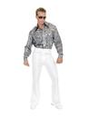 Charades CH01992WHW-46 Mens White Disco Pants W-46