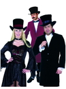 Charades CH60194-BKWNOS Velvet Top Hat OS