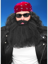 Forum 51706 14 Inch Black Beard And Moustache NS