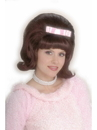 Forum 61539 Brown 50s Bouffant Adult Wig NS