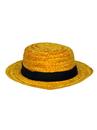 Forum 66172 Adult Straw Roarin' 20's Skimmer Hat NS