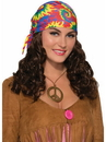 Forum 74505 Hippie Adult Wig With Headscarf NS