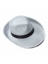 Forum 66603 White Velvet Fedora with Black Band NS