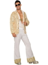 Forum 80472 Mens 70'S White Sequin Pants XL