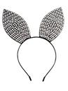 Forum 80488 Rhinestone & Pearl Bunny Ears Headband NS