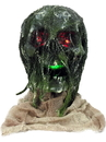 Forum 81367 Light Up Rotten Skull With Base NS