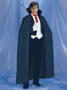 Rubies 15005 Full Length Black Fabric Adult Cape OS