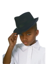 Rubies 49909 Black Durashape Fedora Child Hat NS