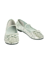 BuySeasons 20005711/12 Girls Ballet Shoe Silver