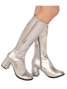 Rubies 2000738 Adult GoGo Boot Silver 8
