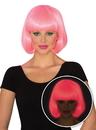 Rubies 38487NS Womens Pink Glow Bob Wig NS