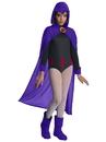Rubies 700179L Teen Titan Go Movie Girls Raven Deluxe Costume L