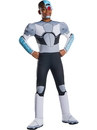 Rubies 700243S Teen Titan Go Movie Boys Deluxe Cyborg Costume S
