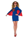 Rubies 840029M/L Womens Supergirl Cape Dress with Wing M/L