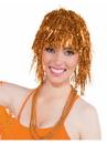 Forum 71499 Orange Tinsle Wig - One Size