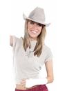 Forum 71659 White Cowboy Hat - One Size
