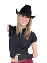 Forum 71685 Black Cowboy Hat - One Size