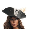 BuySeasons A2905 Womens Sexy Black Pearl Pirate Hat
