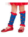Girls Supergirl Leg Warmers - One Size