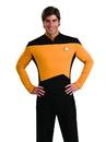 Rubies Costumes 888980S Star Trek Men's Next Generation Deluxe Gold Shirt - Small
