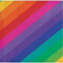 Creative Converting 300961 Rainbow Beverage Napkin 16ct