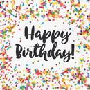 Creative Converting 300969 Sprinkles Happy Birthday Luncheon Napkin 16ct