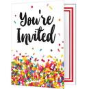 Creative Converting 300973 Sprinkles Folded Invitation 8ct