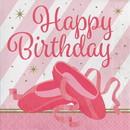Creative Converting 300980 Twinkle Toes Happy Birthday Luncheon Napkin 16ct