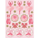 Creative Converting 300995 Twinkle Toes Value Stickers 4ct