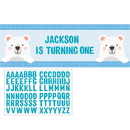 1st Birthday Bear Giant Party Banner 1ct
