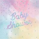 Creative Converting 301047 Iridescent 'Baby Shower' Luncheon Napkin 16ct