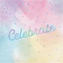 Creative Converting 301048 Iridescent 'Celebrate' Luncheon Napkin 16ct
