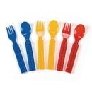 Fun Express 301292 Block Party Fork & Spoon Set (16pc)