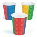 Fun Express 301329 Block Party 9 oz Cups (8pcs)