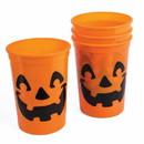 Forum Novelties 305641 Pumpkin Plastic Cups (4)
