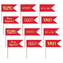 Amscan 306650 Red and Gold Cupcake Toppers (24)