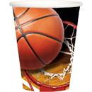Birth5000 307076 Basketball 9oz Cups (8)