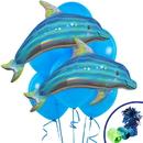 131462 Iridescent Blue Dolphin Jumbo Balloon Bouquet