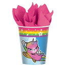 Amscan 307500 Rainbow Butterfly Unicorn Kitty 9oz Paper Cups (8)