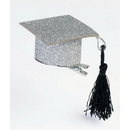 Forum Novelties BB74419 Graduation Hat Glitter Hair Clips (2pcs)