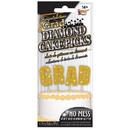 Forum Novelties BB98427 G-R-A-D Gold Diamond Glitter Cake Topper