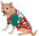 Rubies 882103 Ugly Christmas Sweater with Pattern Pet Costume LX