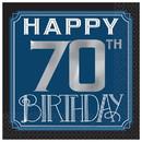 Amscan PY164037 Happy 70th Birthday Man Beverage Napkins (16)