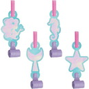 Creative Converting PY164259 Mermaid Shine Blow Out Favors with Medallions