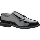 Bates E00007 Men's High Gloss Leather Sole Oxford, Black