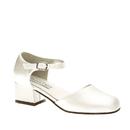 Touch Ups by Benjamin Walk Children's Clarissa Shoes Satin White