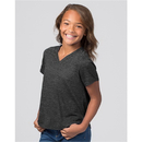 Boxercraft YT34 Girls Snow Short Sleeve V-Tee