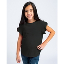 Boxercraft YT64 Girls Ruffle Sleeve Tee