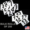 Blazer 095914 # 14 - Hip Number - Bulk Roll Of 250 #14'S